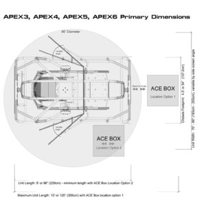 SimCraft APEX Pro Racing Simulator Dimensions