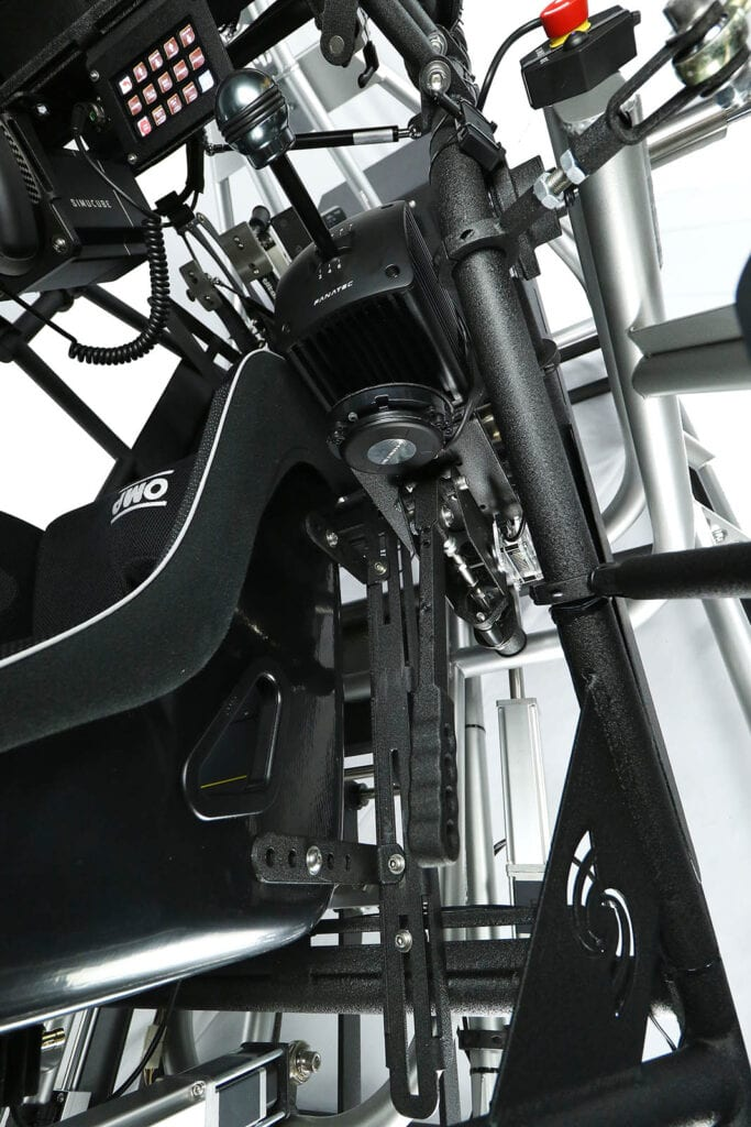 SimCraft APEX Pro Racing Simulator Closeup Handbrake
