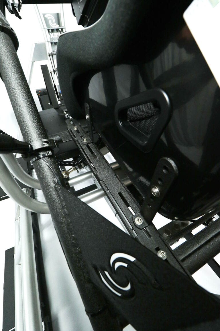 SimCraft APEX Pro Racing Simulator Closeup Seat Adjustment