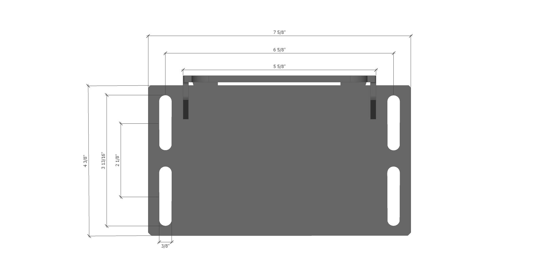 simucube2 servo mount dimensions